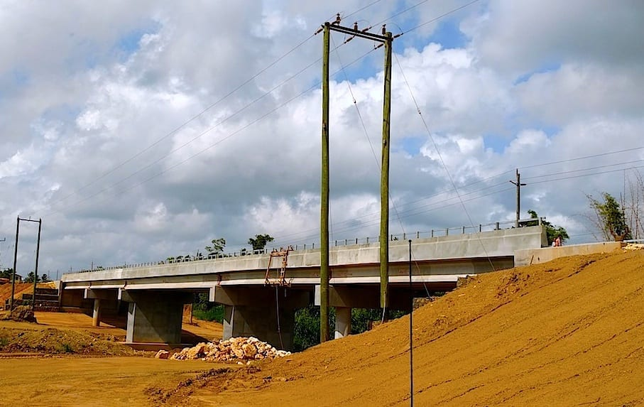 New bridge across the Mullins River.