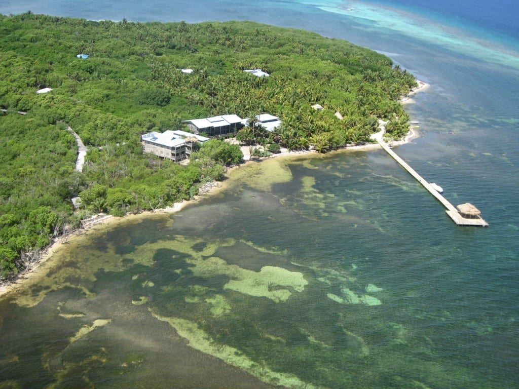 Long Caye by Air