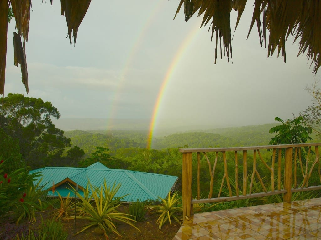rainbow over Chiquibul Forest Mountains